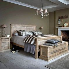 Reclaimed wood bedroom furniture the austen bed frame is made from reclaimed wood with a classic White Washed Bedroom Furniture, Wood Bedroom Sets, Rustic Bedroom Design, Rustic Bedroom Furniture, Master Bedroom Design, Bedroom Decor, Bedroom Ideas, White Bedroom, Luxury Furniture