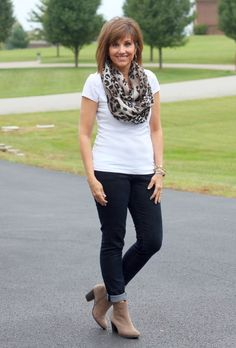 What I Wore-September 2014 like the jeans rolled up above the booties