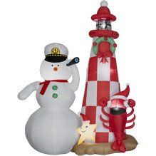 Amazon.com: 8ft Airblown Inflatable Snowman Lobster & Star Lighthouse - Animated: Patio, Lawn & Garden