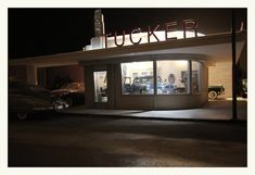 The Tucker Showroom at Night by Michael Paul Smith, via Flickr