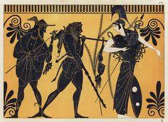 Greek Pottery Art Hercules Of greek vase painting