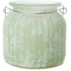 Amazing Flameless Candle 'Sea Glass Jar' Flameless Jar Candle (€27) ❤ liked on Polyvore featuring home, home decor, candles & candleholders, fillers, mint, decor, vase, handmade home decor, flameless candles and sea glass home decor