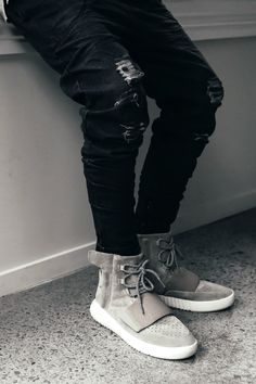 "cknd: ""Love Ugly Black Denim Zespy Pants x Yeezy Boost - www.iloveugly.com and @iloveugly Facebook Twitter """