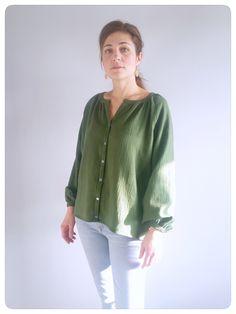 Batiste, Sewing Patterns, Tunic Tops, Sweaters, Shirts, Bohemian Shirt, Blouses, Easy, Fashion