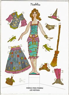 Witches Paper Dolls | Gabi's Paper Dolls Auf gabipaperdolls.blogspot.com http://www.pinterest.com/pearlswithplaid/paper-dolls-for-real/