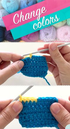 How to change colors in crochet - Video crochet tutorial by BuddyRumi