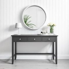 Mar 2020 - Buy Harper White Solid Wood Dressing Table from - the UK's leading online furniture and bed store Dressing Table Decor, White Dressing Tables, Bedroom Dressing Table, Dressing Room, Ikea Lack Shelves, Floating Table, Floating Shelves, White Console Table, Wood Bedroom