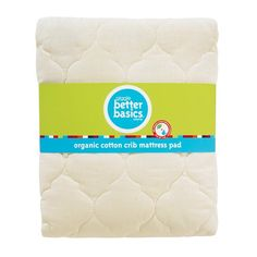 #kids Made from organic cotton with cotton fill, this thick mattress pad is a luxurious accessory for your baby's crib. It's waterproof to protect your #mattress...