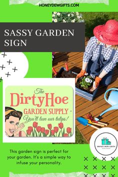 A garden sign can set the tone for an entire garden.This garden sign is perfect for your garden. It's a simple way to infuse your personality. For gardeners who needs humor.