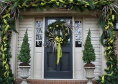 front door christmas decorations