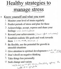 Tips for managing stress in your life.