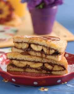 Stuffed French Toast with Bananas and Nutella®