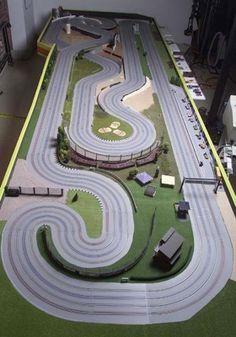 Slot cars, slot car racing, slot car tracks, race tracks, go kart