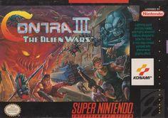 Contra III : The Alien Wars (Konami) front sleeve
