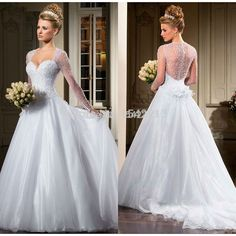 Find More Wedding Dresses Information about Heavy Beaded See Through Ball Gown Wedding Gown Long Sleeve Bride Dresses Vestido De Novia 2014,High Quality dress patterns evening gowns,China gown red Suppliers, Cheap dress strap from LouKa Bridal on Aliexpress.com