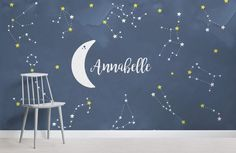 personalised-constellations-nursery-square-wall-mural Source by Outer Space Wallpaper, Planets Wallpaper, Cloud Wallpaper, Nursery Wallpaper, Kids Wallpaper, Wallpaper Murals, Galaxy Wallpaper, Star Nursery, Nursery Room
