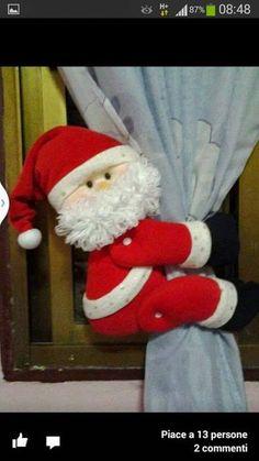 Meu Mundo Craft: Papai Noel Segura Cortina-1