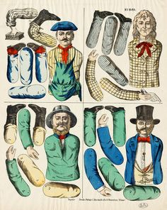 Victorian Paper Dolls, Expo, Jumping Jacks, Puppets, Christmas Decorations, Fun, Prints, Fictional Characters, Tattoo