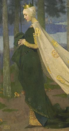 Marianne Stokes, detail of The Queen and the Page