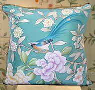 Hand painted Silk Cushion Cover