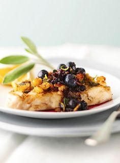 21 Great Healthy Grilling Recipes from Better Home and Garden! Including this Grilled Halibut with Blueberry dressing!