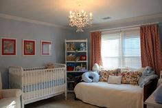 Not so much for the colors, but I want a daybed in the nursery so it can double as a guest room.