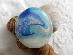 """272. Bague ronde """"La vague bleue"""" comme un rappel d'éternité... : Bague par tournicotti-tournicotta"""