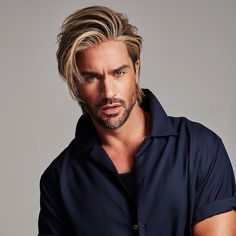 Straight Blonde Layered Short Synthetic Hair Wigs - Hairstyles For All Mens Medium Length Hairstyles, Slick Hairstyles, Wig Hairstyles, Pompadour Fade, Blonde Layers, Medium Hair Styles, Long Hair Styles, Texturizer On Natural Hair, Rides Front