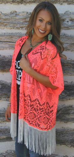 Bright Kimono - southwest cowgirl fashion I NEEED