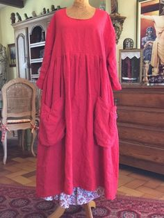 Love this over-size dress with the big slouch pockets! Boho Outfits, Pretty Outfits, Beautiful Outfits, Boho Fashion, Girl Fashion, Womens Fashion, Mode Boho, Couture, Linen Dresses