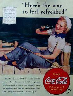 Vintage Coke Ads   Vintage magazine ads 1900s - 1960s. Coca-Cola, Schlitz, automobile ...