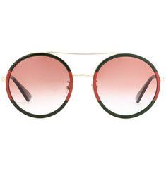 2a240110b GUCCI Exclusive To Mytheresa.Com – Round Sunglasses. #gucci #sunglasses  Óculos Gucci