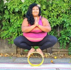 """Valerie Sagun, aka Big Gal Yoga - Valerie is thrilled that her online presence has inspired thousands to try yoga themselves. """"I feel I am able to connect and reach out to people and change their perspectives about bigger bodied people practicing yoga,"""" she wrote. """"I'm honoured to be an ambassador of spreading body positivity and self love through yoga out to the world. I look at my big chubby body and am happy and content with it."""" > www.biggalyoga.com/"""