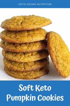 Keto Cookies, Coconut Flour Cookies, Coconut Flour Desserts, Low Sugar Cookies, Low Carb Desserts, Low Carb Recipes, Coconut Flour Recipes Low Carb, Fall Desserts, Bon Dessert