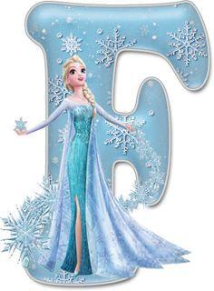 frozen letter F Frozen Birthday Party, Frozen Tea Party, Disney Frozen Birthday, Frozen Cupcake Toppers, Frozen Font, Anna Und Elsa, Frozen Images, Alphabet And Numbers, Lettering
