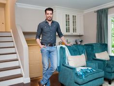 The Property Brothers Tackle This Modern Rustic Reno Fit for a Family Jonathan Scott, Property Brothers, Home Structure, Great Scott, Scott Brothers, Welcome To My House, New Carpet, Modern Family, Hgtv