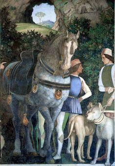 Андреа Мантенья. Свита кардинала Франческо. Деталь.1471-1474