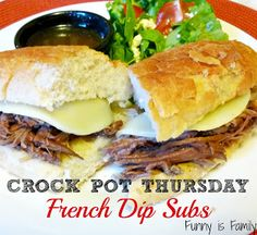 Funny is Family: Crock Pot Thursday: French Dip Subs