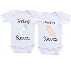 Twin Baby shower gifts Twin Matching Outfits by DAIICHIBANdesigns