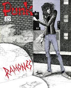 Joey Ramone, 'PUNK' #3, March 1976