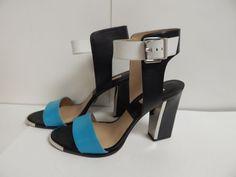 Michael Kors Carson Leather Sandal 11 M Aqua 46R4COHA1L New w/ Box #MichaelKors #AnkleStrap