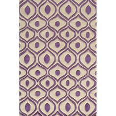 @Overstock.com.com - Hand Tufted Modern Waves Purple Polyester Rug (8' x 10') - This purple hand-tufted rug will breathe new life into any room. The simple pattern has a wavy structure, and the basic two-toned color scheme is easy on the eyes. Despite the simplicity of the design, this piece has tons of personality.  http://www.overstock.com/Home-Garden/Hand-Tufted-Modern-Waves-Purple-Polyester-Rug-8-x-10/7123668/product.html?CID=214117 $292.39