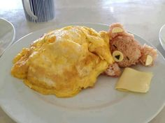 Omlet, rice, & cheese♥