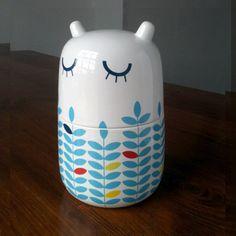 Mama Haihai by Camila Prada: Medium storage jar. Made of bone china.  #Storage_Jar #Camila_Prada