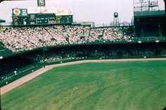 Briggs Stadium (Detroit). (4-24-60) Major League Baseball Teams, Baseball Park, Detroit Tigers Baseball, Chicago Cubs, Baseball Field, Tiger Stadium, Sports Stadium, Shea Stadium, Yankee Stadium