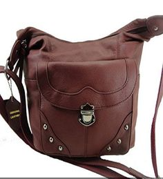 Concealed Carry Handbag Gun Concealment Purse Left/Right Hand 7005 WINE - Handbags, Bling & More!