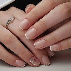 French Manicure Nails, Shellac Nails, My Nails, Manicure Ideas, Oval Nails, French Manicure With A Twist, Remove Shellac, French Tip Nails, Nail Ideas