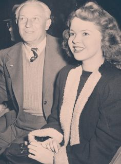 Shirley Temple with her father, George Temple, 1946.