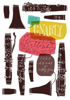 Gnarly Buttons Poster | Illustrator: Anne Benjamin