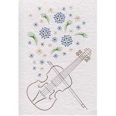 Musical Flowers Violin